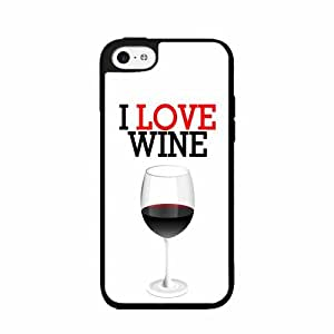 Zheng caseI Love Wine- TPU RUBBER SILICONE Phone Case Back Cover iPhone 5 5s