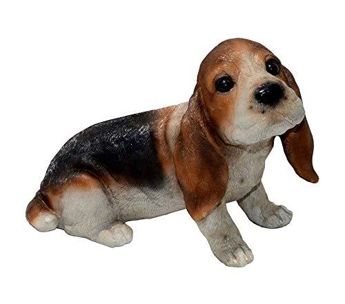 Michаеl Cаrr Dеsigns Outdoor Garden Backyard Décor Ears-Basset Hound Puppy Statue, Medium ()