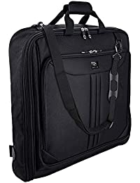 Suit Carry On Garment Bag for Travel & Business Trips With Shoulder Strap