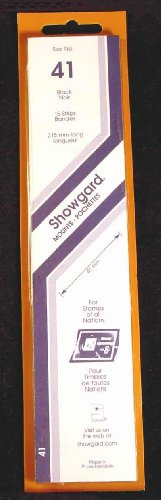 Showgard Strip Style Black Stamp Mounts Size (Strip Style Black Stamp Mounts)