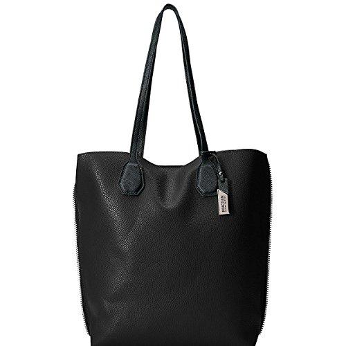 Faux Leather Tote Handbag - 8