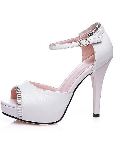 Pink Toe Party Chunky Dress Platform Heel Evening Pink Women's ShangYi Peep amp; Sandals White Shoes qBwXFSx7