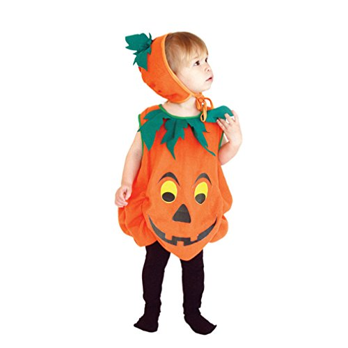Pumpkin Costumes For Toddler (Spooktacular Infant and Toddler Baby Jack-O-Lantern Pumpkin Costume, S)