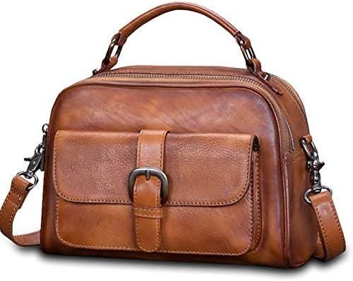 バッグ - トップレイヤー牛革/ポリエステル、レトロスタイルのパンクレディースハンドバッグ、ショルダーバッグ/ショルダーバッグ、大容量/ソフト/ウェアラブル(23.8x10x16cm) よくできた