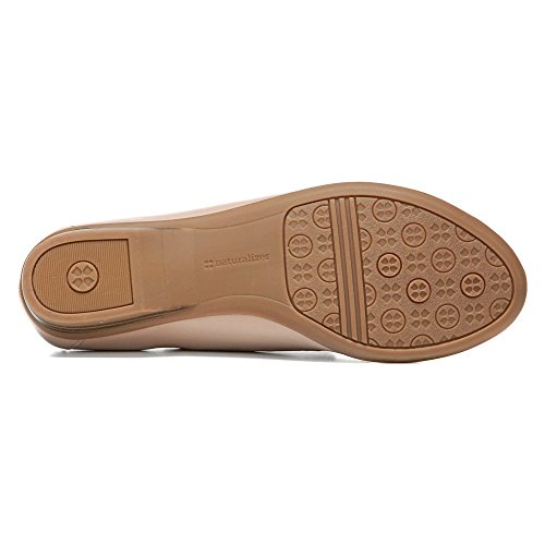 Naturalizer Dames Saban Slip-on Loafer Zacht Taupe Leer