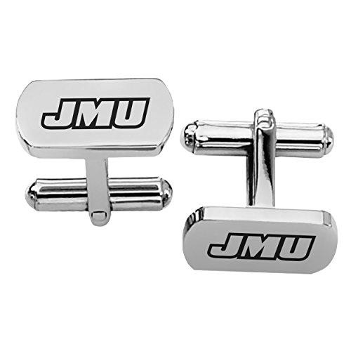 James Madison JMU Dukes Rectangular Shape Stainless Steel Cufflinks - Rectangular Steel Cufflinks