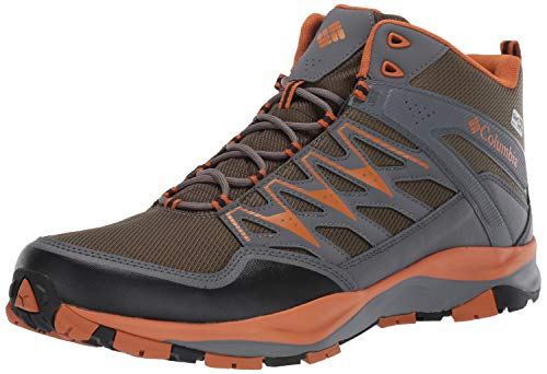 (Columbia Men's WAYFINDER MID Outdry Hiking Boot, nori, Bright Copper, 8 Regular)