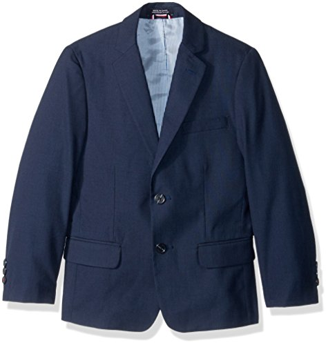 Tommy Hilfiger Big Boys' Sharkskin Blazer, Dark Blue, 10 (Boy Blazers On Sale)