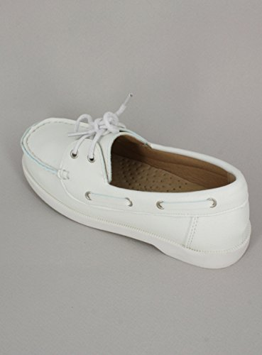 Schuh weiße Jungen Boot inkl. Band–Produkt Gespeichert und verschickt Schnell seit Frankreich Weiß