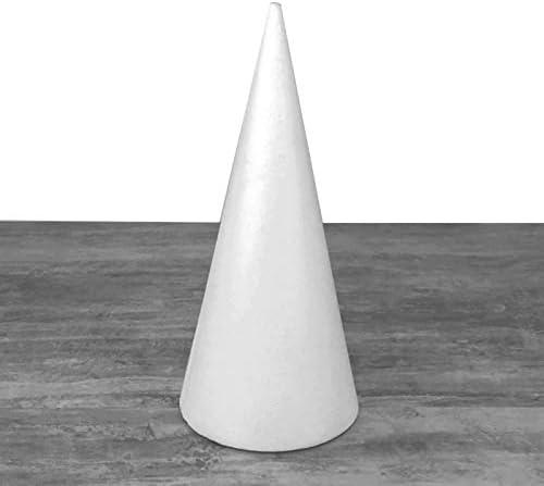 de Lot de 3 cônes en polystyrène plein de 28 cm de haut diamètre de base 12 cm