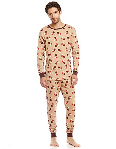 Leveret Men's Baseball 2 Piece Pajama Set 100% Cotton (Large)