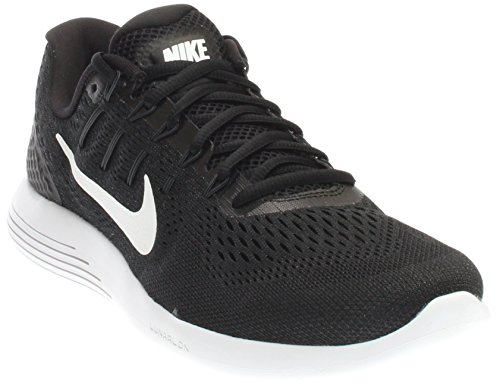 NIKE Men's Lunarglide 8 Running Shoe Black/White/Anthracite Size 10.5 M US