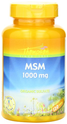 Msm 1000 Mg 120 Tablets - Thompson MSM , 1000 Mg, Organic Sulfate, 120 Tablets