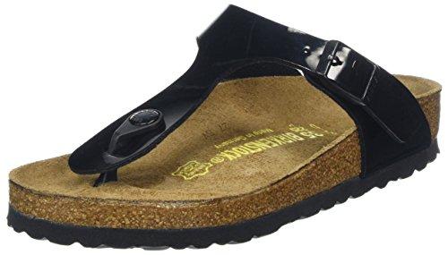 Birkenstock Gizeh Black Patent Womens Sandals Size 38 EU
