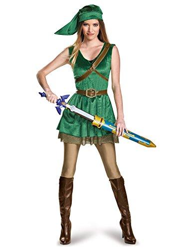 Disguise Women's Legend of Zelda Link Adult Costume, Green, Teen/Juniors ()