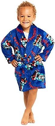 Jellifish Kids Thomas Boys Fleece Sleep Robe - Soft & Cozy Boys Bath