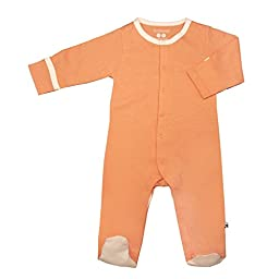 Babysoy Footie   (Baby) - Cantaloupe-0-3 Months