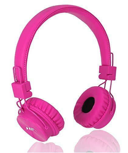 Learn More About Wired Kids Headphones with Microphone and share port, Foldable Lightweight Adjustab...