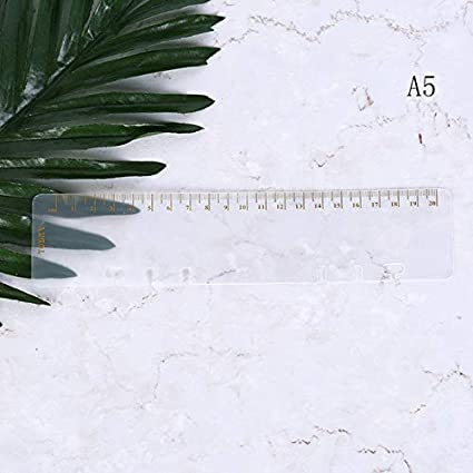 Amazon.com: OBELLA BOUTIQUE Ruler A5 A6 A7 Frosted Planner ...