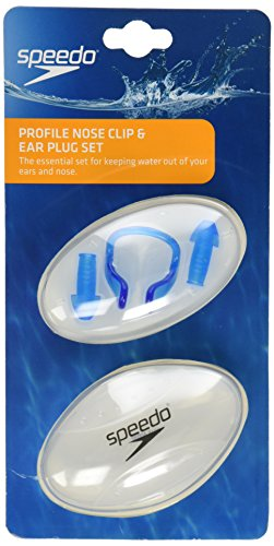 Speedo Profile Nose Clip/Ear Plug Set, Blue, One Size