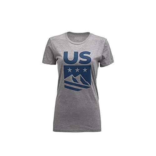 Spyder Active Sports Women's U.S. Ski Team Crest Short Sleeve T-shirt,  Alloy,  X-Small