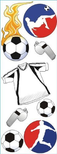 Touch Of Jolee's Dimensional Sticker-Soccer by Jolees by JOLEES