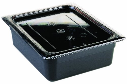 Cambro 20CWC135 Camwear Food Pan Cover 1/2 size flat clear - Case of 6