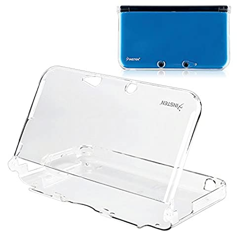 Insten Crystal Case Compatible With Nintendo 3DS XL (Not compatible with the New version), Clear (Wrist Strap Ds)