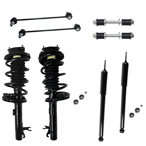 2001 Ford Focus Wagon - All (4) Complete Front Strut Assembly Set & Rear Shock Absorber Pair & All (4) Front & Rear Sway Bar Links - NOT FOR WAGON - [00-05 Ford Focus]
