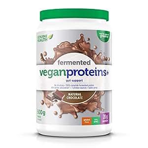 Genuine Health Fermented Vegan Proteins+ Vegan Protein Supplement Powder, 600 Gram