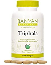 Banyan Botanicals Triphala Tablets - Organic Triphala Supplement with Amla, Haritaki & Bibhitaki – for Daily Detoxifying, Cleansing, Rejuvenating* – 180 Tablets – Non-GMO Sustainably Sourced Vegan
