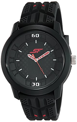 Sonata Fibre (SF) Economy Analog Black Dial Men's Watch-NL77065PP02