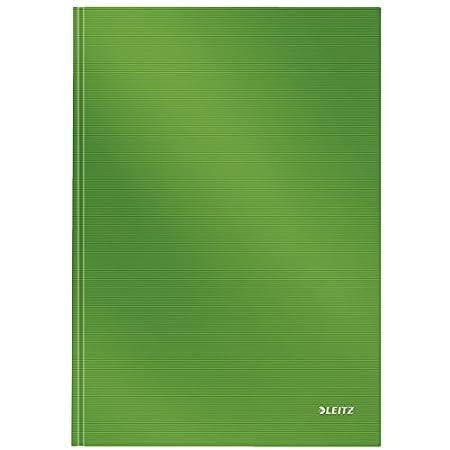 Leitz Quaderno A4 con copertina rigida 80 fogli a righe Solid Bianco Carta 90 gr//mq 46650001