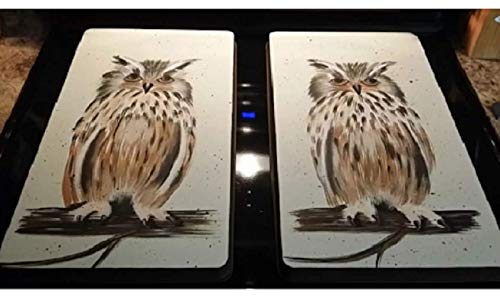 (Wild Owl Natures Beauty Stove Burner Cover Set)