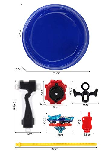 Mitfun Battling Top Set 4X Spinning Metal Fusion Set Starter for Children Launchers and Arena Included … (2) by Mitfun (Image #3)