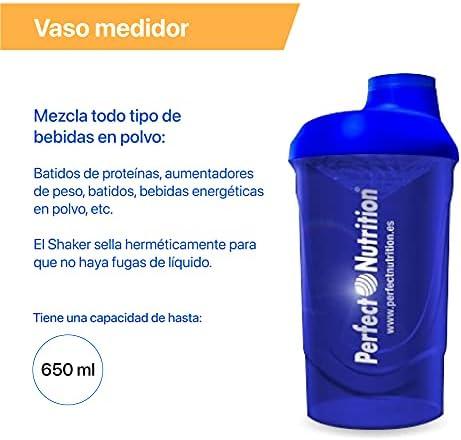 Batido sustitutivo de comida + Vaso mezclador de batido adelgazante. Pack 2 en 1 sustitutivos de comida con proteínas (Fresa - Nata)