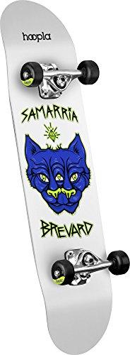 "hoopla skateboards Samarria Brevard ""Panther"" Shape 112 Complete Skateboard, 7.75″ x 31.75″, White"