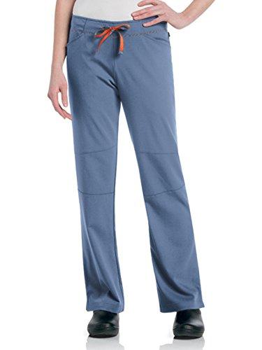 - Urbane Women's Ultimate Silky Soft Stretch Medical Drawstring Scrub Pant, Ceil/Papaya, Medium Petite
