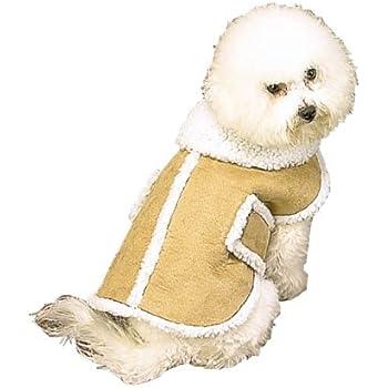 Amazon.com : Fashion Pet Outdoor Dog Shearling Coat - Brown ...