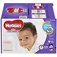 174 Count Huggies Little Movers Diapers Size 3