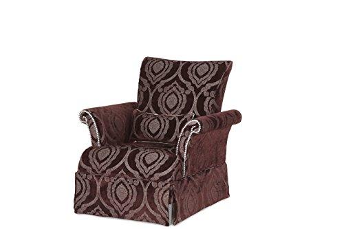 - Michael Amini 03836-AMYTH-00 Hollywood Swank Op2 High Back Skirted Chair