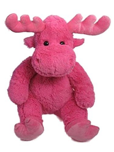 - Wishpets Stuffed Animal - Soft Plush Toy for Kids - Sitting Moose, 14 Inches, Pink