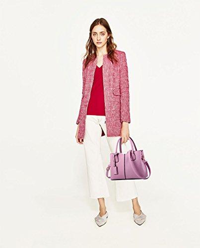 Color Simple Tisdaini Handbag Women Purple Shoulder Wallet Taro Messenger Bag PU Simple Fashion Leather 6qHItWnH