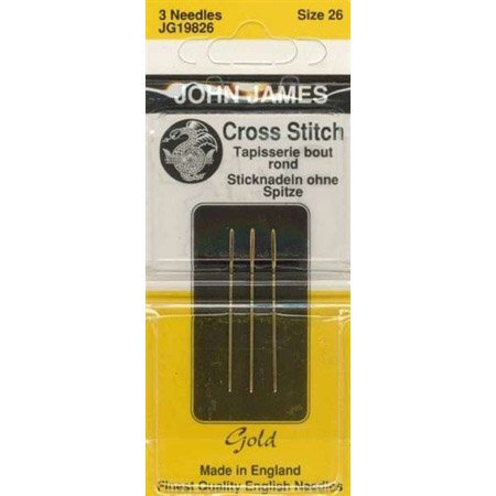 Colonial Needle John James Gold Tapestry Hand Needles, Size 26 3/Pkg