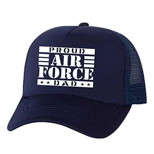 Proud AIR FORCE Dad Truckers Mesh snapback hat in Navy - One Size