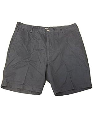 Men's Flat Front Shorts Size 40 Navy