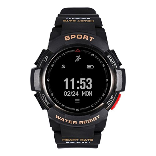 Price comparison product image Boofab Smartwatch Outdoor GPS Tracker,  Band Activity Fitness Running, IP68 waterproof, Heart rate monitor, Multi-sport Mode, Compass, Pedometer for IOS iPhone, Android (A)