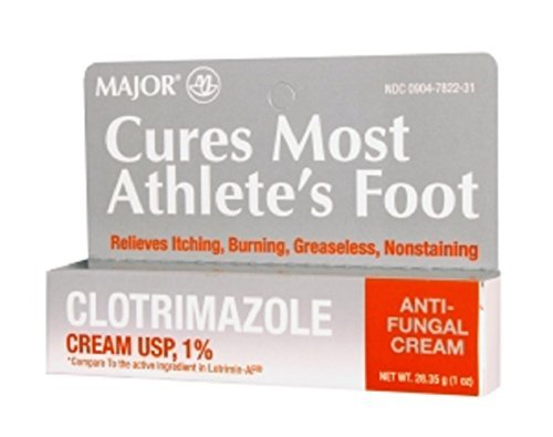 MAJOR CLOTRIMAZOLE ANTIFUNGAL 1% CREAM CLOTRIMAZOLE-1 % White 28.35 GM UPC 309047822317 by Major Pharmaceuticals