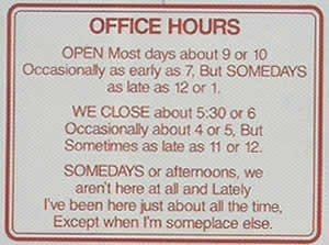Office Hours Gag Sign