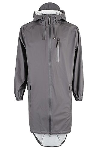 Hombre Gris Parka Rains Coat Smoke Impermeable 48 para a8I8w